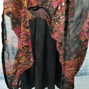 eshakti Dresses - Eshakti Paisley Print Tiered Georgette Dress SZ 12